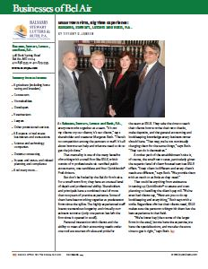 BSLR Featured in I95 Business Magazine